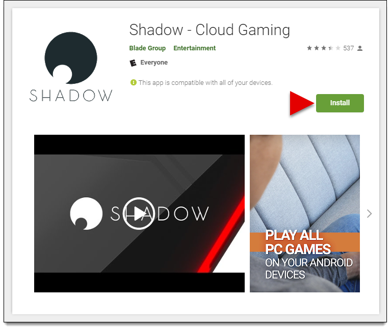 Install Shadow on Android TV – Shadow - Support (EN)